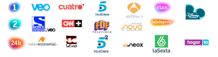 Los principales canales nacionales de TDT