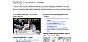 Google lanza www.google.com.ar/gripeah1n1 en Argentina para informar sobre la nueva gripe