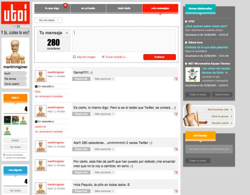 UTOI: herramienta de microblogging de Soitu.es