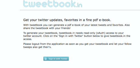 TweetBook: Crea un libro con tus Tweets