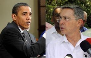Barack Hussein Obama y Alvaro Uribe
