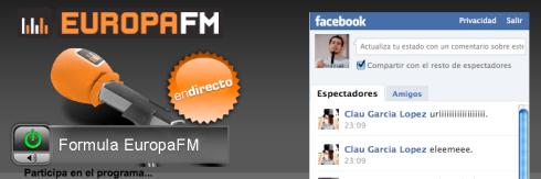 Europa FM también se ha apuntado a Facebook para potenciar la participación de sus oyentes.