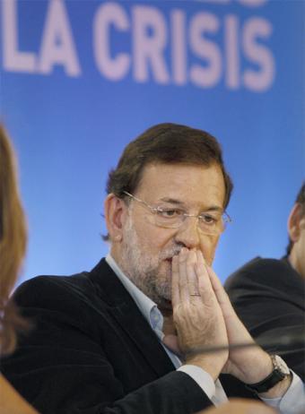 """Mariano Rajoy y """"su crisis"""" FOTO: Blog de Oscar Díaz García"""