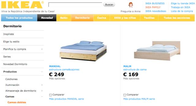 Camas en España en IKEA