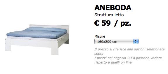 Cama Aneboda en Italia por 59 €