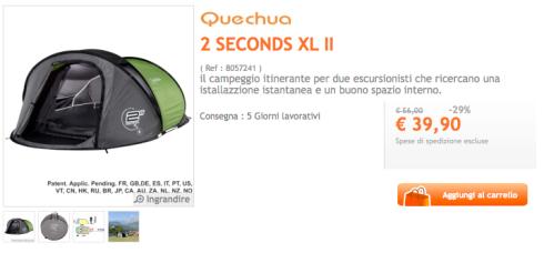 Tienda de campaña Quechua 2 SECONDS XL II en Decathlon Italia